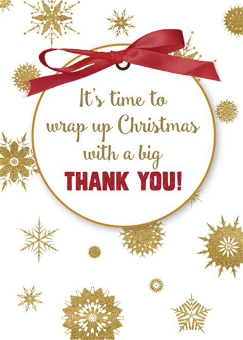 Gold Snowflakes To Say Thank You. Free Thank You eCards