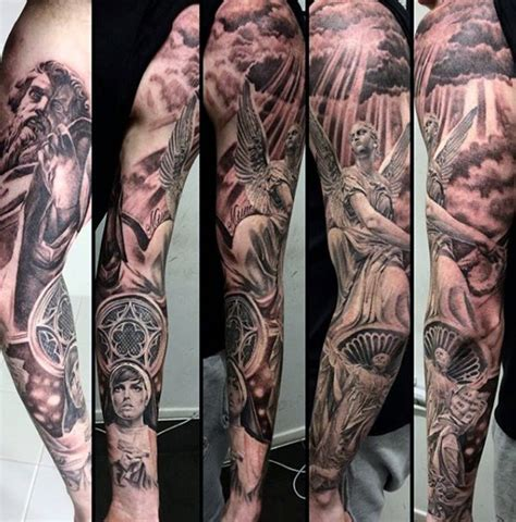 religious themed sleeve fantastic 75 religious sleeve tattoos for spirit designs