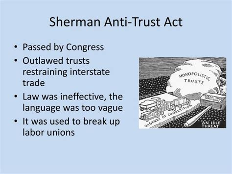 section 1 of the sherman act ppt the gilded age 1865 1900 powerpoint presentation