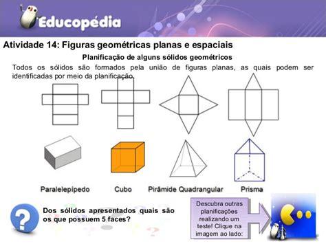 figuras geometricas espaciais figuras geom 233 tricas planas e espaciais matem 225 tica