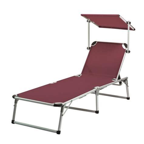 chaise longue transat avec pare soleil bordeaux quot colorado