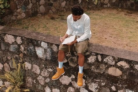 rapper j cole visits bob marley s studio for inspiration off the grid by bally starring j cole
