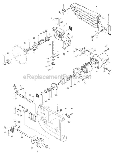makita 2702 parts list and diagram ereplacementparts