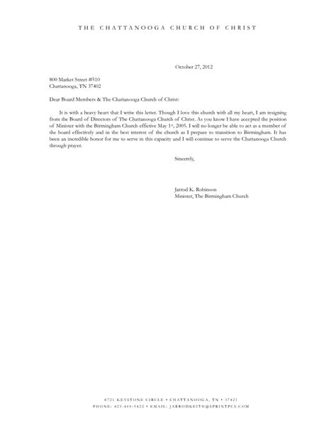 Hoa Board Member Letter Of Resignation Resignation Letter Format Prepare Board Member Resignation Letter To Transition To Birmingham