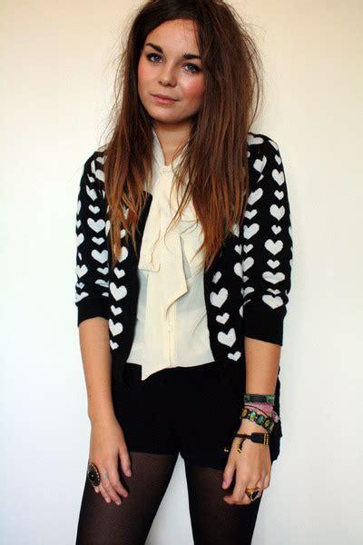 H M Black Basic Playsuit beige sheer pussybow vintage shirts black playsuit h m