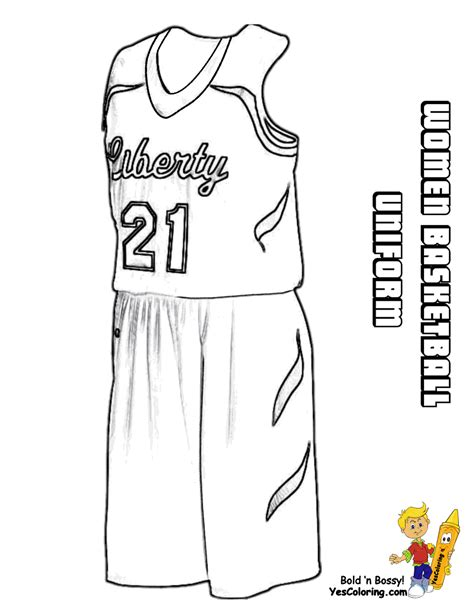 Basketball Uniform Coloring Page | powerhouse girls basketball coloring wnba basketball