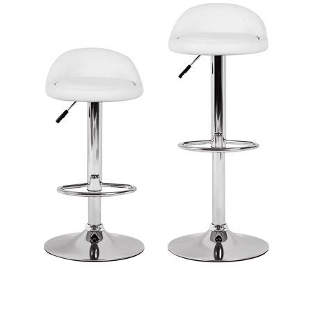 Chrome Swivel Counter Stools by White Bar Stool Height Adjustable Swivel Metal Counter