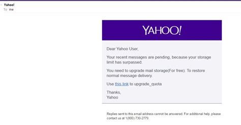 yahoo email upgrade phishing hackers grab yahoo credentials through mail activity