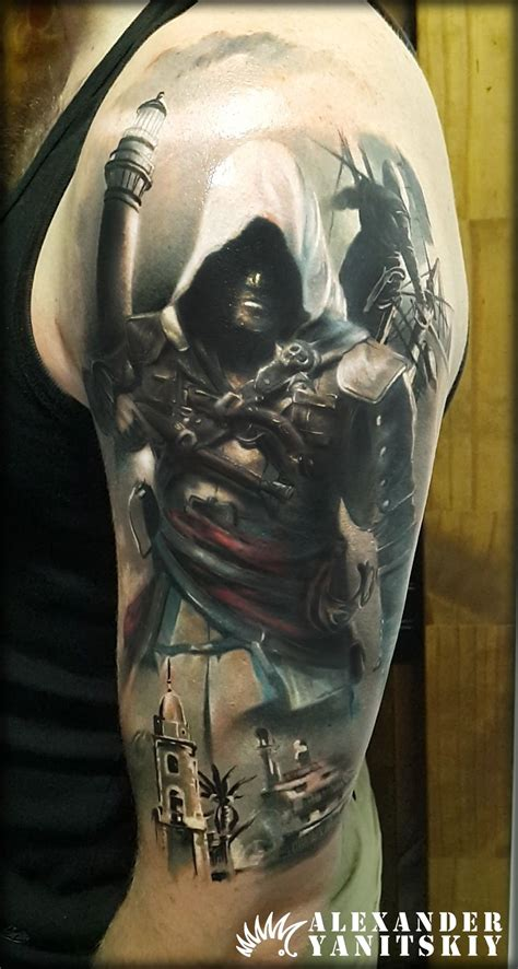 assassins creed tattoos assassin s creed by yanitskiy kipod