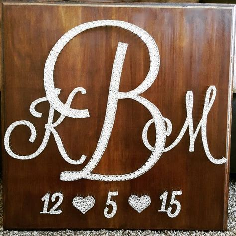 20 quot x 20 quot wedding monogram wedding date string