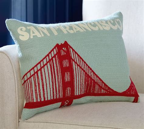 San Francisco Pillow by San Francisco Crewel Embroidered Pillow Pottery Barn