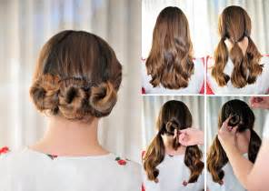 hair style step by step pic simple hairstyle tutorial step by step pictures lushzone