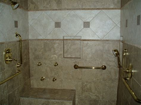 Handicap Bathroom Showers Handicap Shower Traditional Bathroom Nashville By Dave S Custom Tile