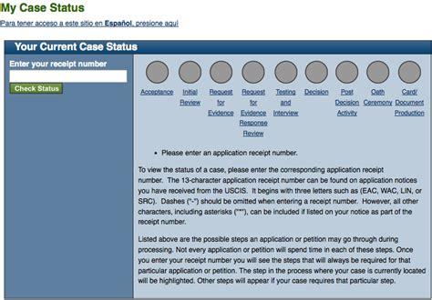 uscis status uscis number