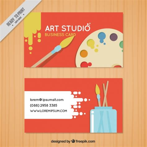 Business Card Artwork Template by Business Card Studio Vector Free