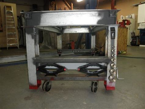bench wheels 17 images about scissor lift table on pinterest welding table adjustable table and