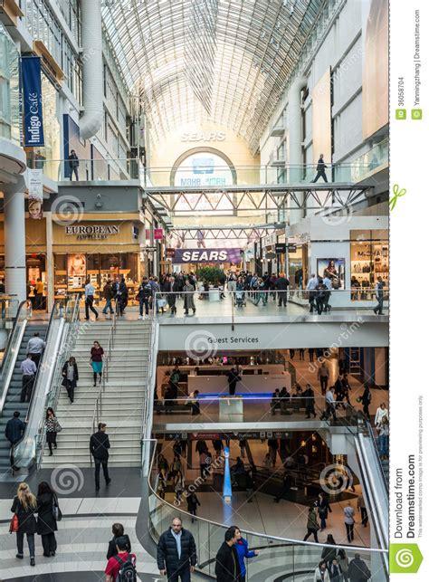 busy corridor  eaton center editorial stock image