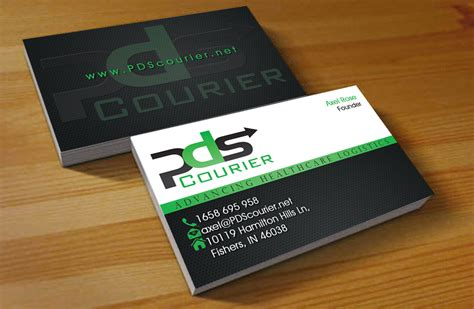 courier business card templates masculine serious business card design design for pds