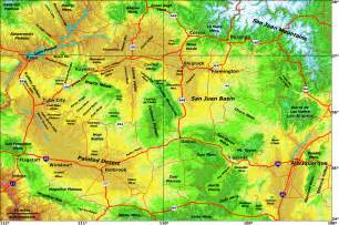 colorado map elevation navajo land use planning project nlupp