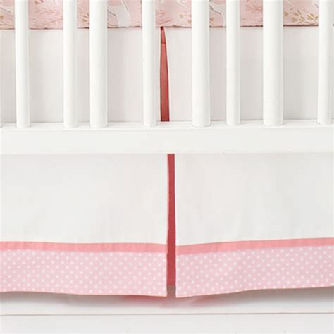 White Crib Bed Skirt by Pink And White Crib Skirt Pink Crib Skirt Baby