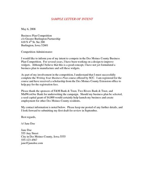 Letter Of Intent For Business Plan best photos of business letter of intent letter of