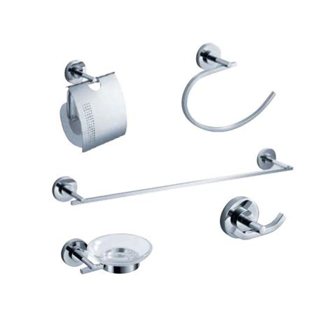 brushed nickel bathroom accessories sets homeselects contempo 4 piece bathroom hardware accessory