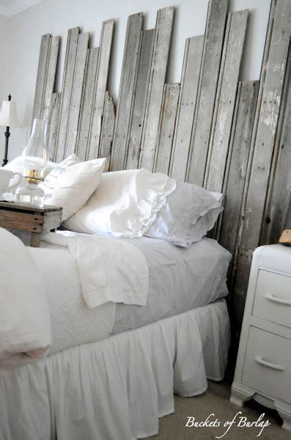 Diy Barnwood Headboard Remodelaholic Master Bedroom With Diy Rustic Barn Wood