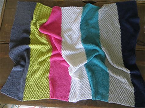 Modern Baby Blanket Knitting Patterns by Ravelry Modern Stripes Baby Blanket Knit Version
