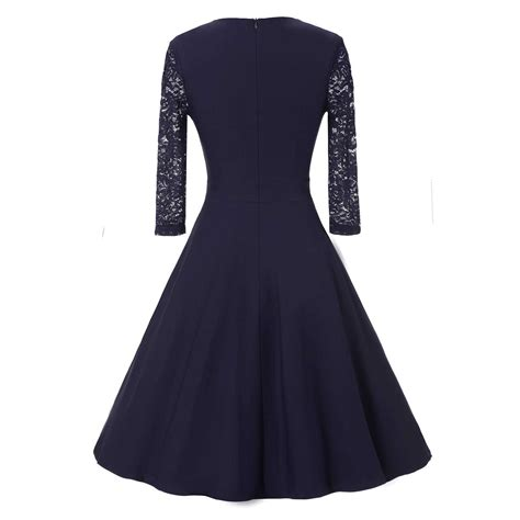 Sleeve Lace Midi A Line Dress lace sheer sleeve formal evening wedding midi a