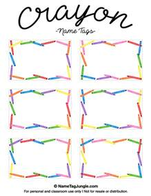 printable name templates free printable crayon name tags the template can also be