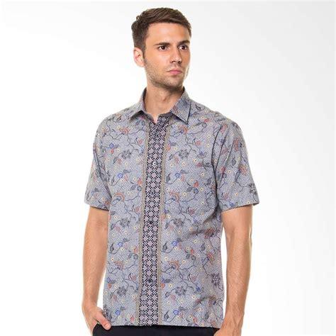 Baju Alisan Motif jual alisan batik pendek slim fit abu 2000sf 10124 ss