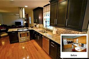 kitchen cabinet refinishing before and after cabinet refacing gallery cabinets kitchen and bathroom