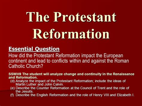 the protestant reformation ppt