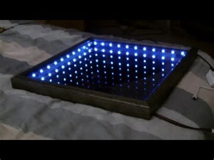 How To Make An Infinity Mirror I Repurposed My Broken Plasma Tv Into A Coffee Table That