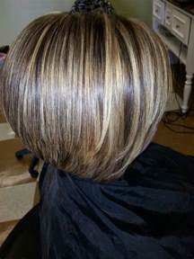 bob hair lowlights short inverted bob with highlights and lowlights short