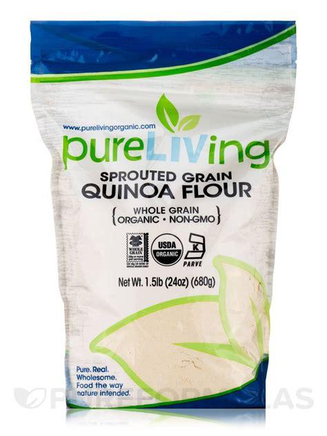 whole grain quinoa flour sprouted grain quinoa flour whole grain 24 oz 680 grams