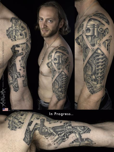 where to put a tattoo 45 awesome biomechanical tattoos biomechanical