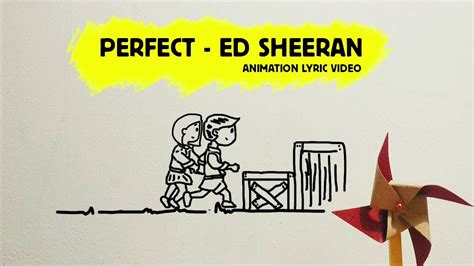 ed sheeran perfect on vinyl perfect ed sheeran cover lyric video animation