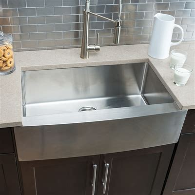hahn stainless steel sink hahn fh00 farmhouse single bowl stainless steel sink