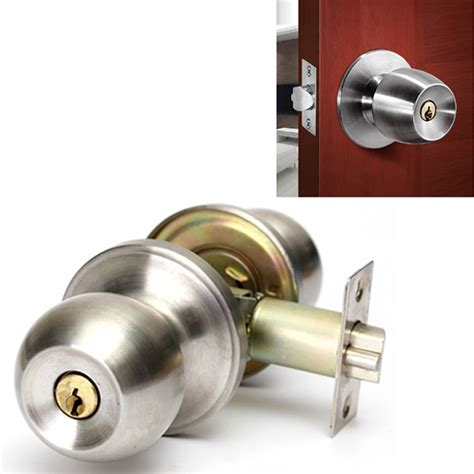 bathroom door handle and lock bathroom door lock stainless steel cylinder round knob