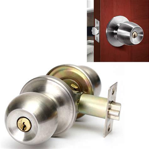 bathroom door lock stainless steel cylinder knob
