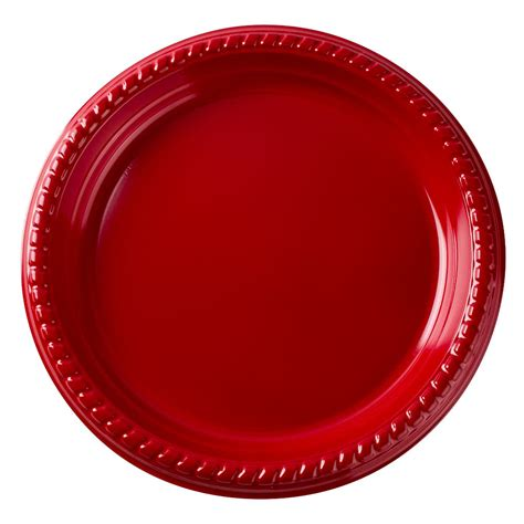 Awesome Plastic Table #6: Solo-ps95r-0099-9-red-plastic-plate-25-pack.jpg