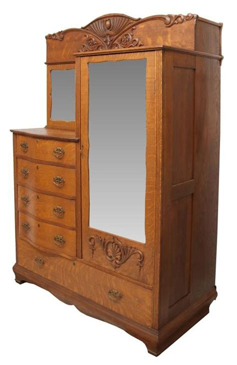 Antique Chifferobe With Mirror Furniture Gorgeous Bedroom Decoration Using Light