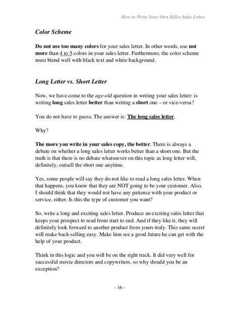 Explanation Letter For Not Achieving Target How To Write Your Own Seller Letter