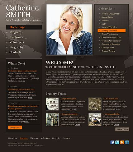Political Html Template Id 300111085 Political Caign Website Templates Free