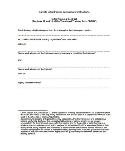 apprenticeship contract template 39 sle contract templates free premium templates