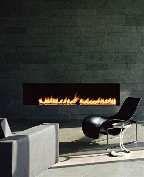 sleek fireplace no mantle fireplaces pinterest