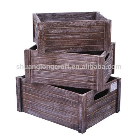 antique used eco friendly decorative wooden crate box