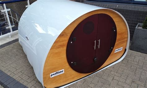 sleep pods shedworking podtime outdoor sleep pods