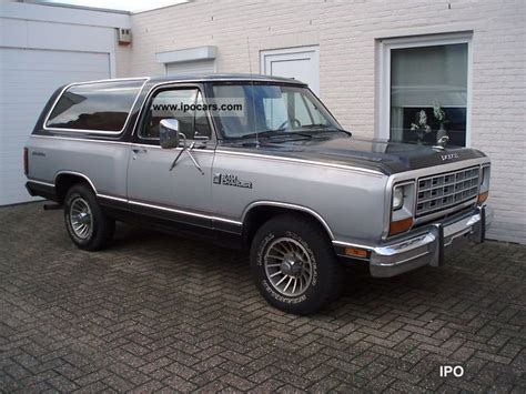1985 dodge ramcharger specs 1985 dodge ramcharger car photo and specs